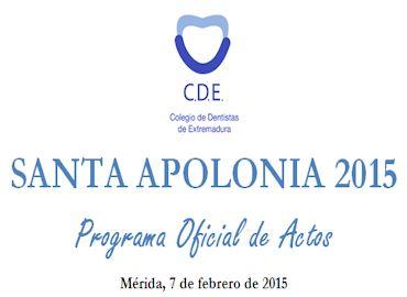 Santa Apolonia 2015 - Colegio de Dentistas de Extremadura