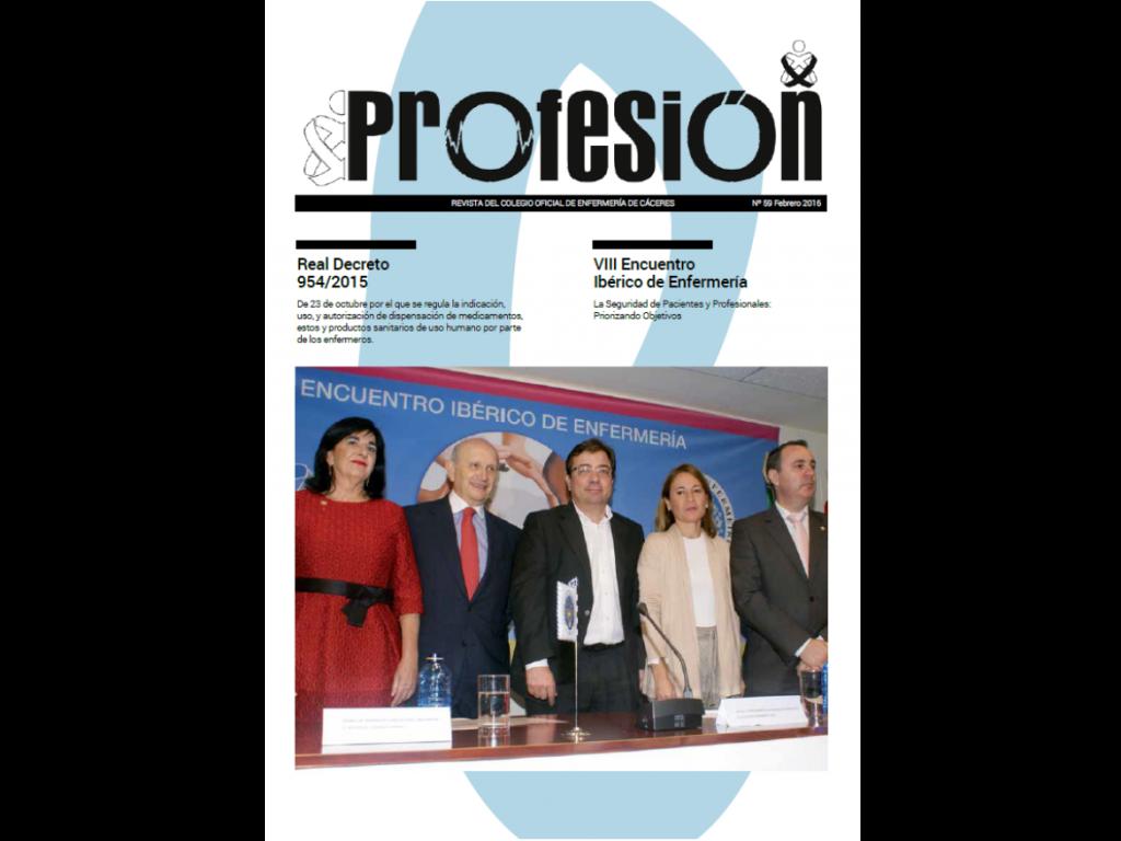 Portada Revista Profesión nº 59