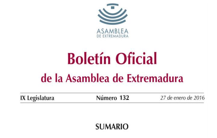 Pronunciamiento de la Asamblea de Extremadura