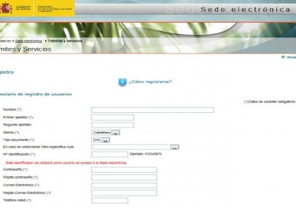 Registro MECES - Gobierno de España