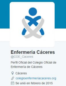 Perfil Twitter Colegio Enfermería Cáceres