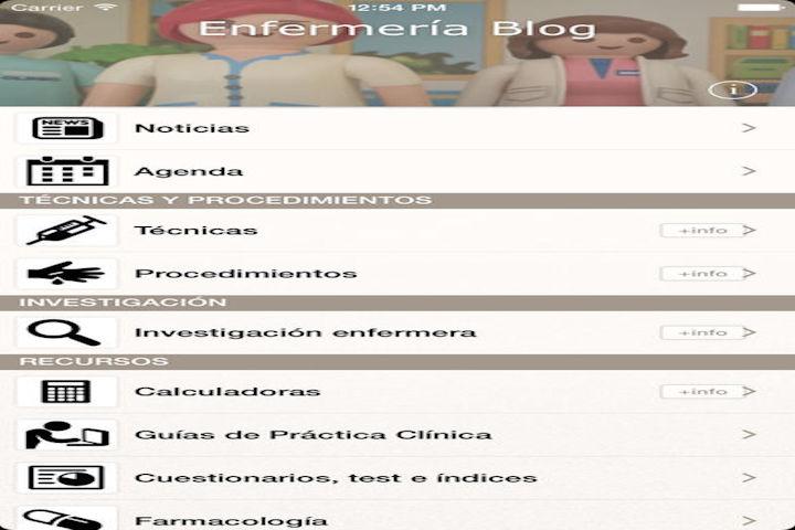 Aplicación Enfermería Blog