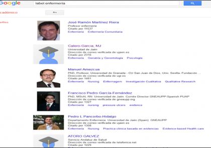 ranking de investigadores mas citados en enfermeria en España