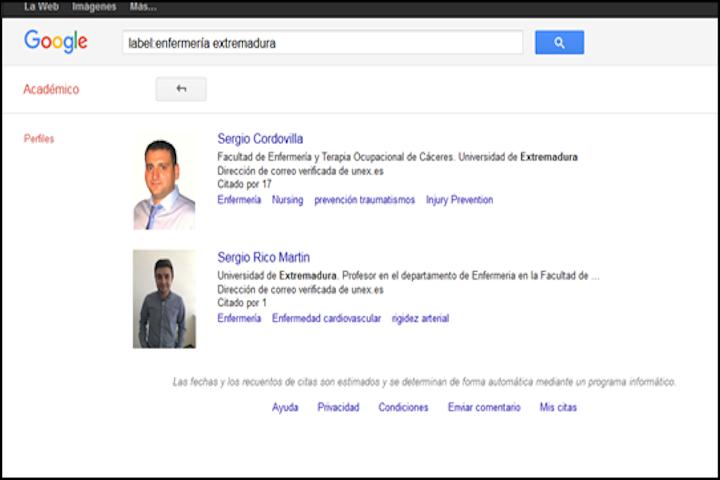 Ranking de investigadores mas citados en enfermeria en Extremadura