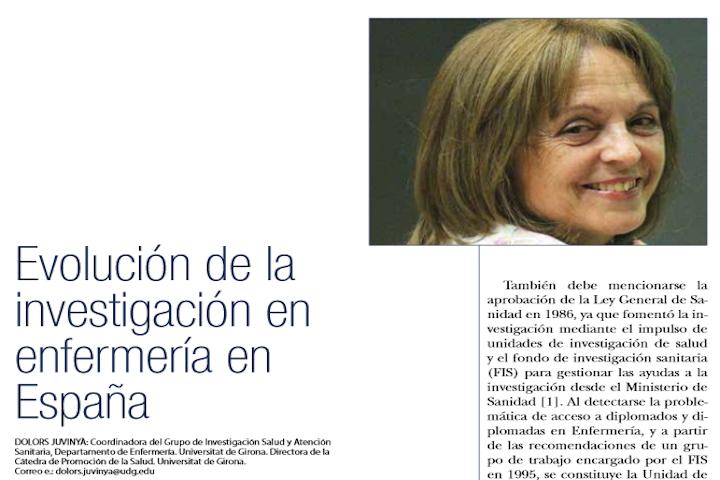 Evolución de la investigación en enfermería en España2