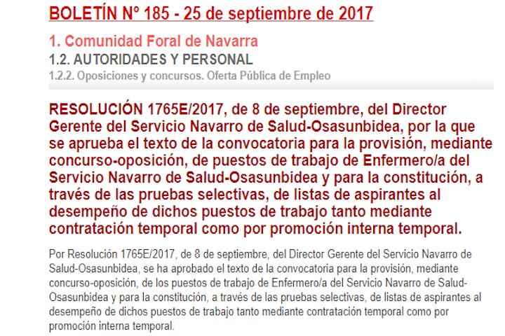Concurso-oposición Servicio Navarro de Salud