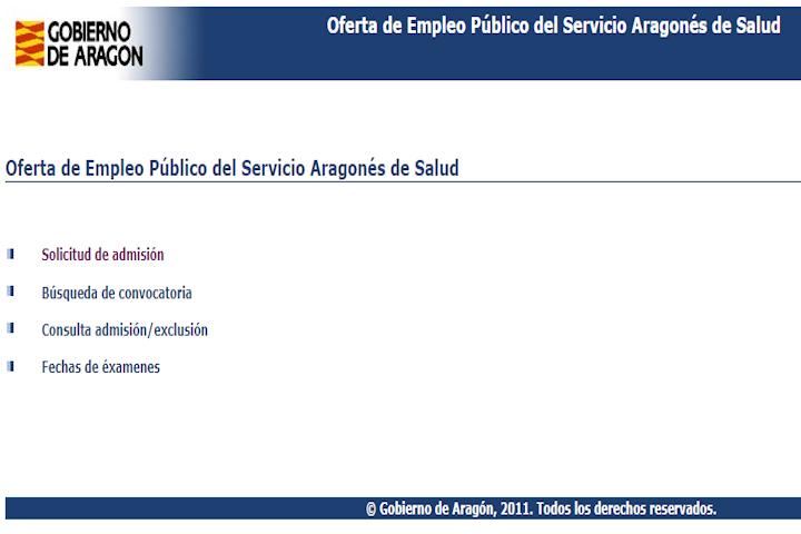 Convocatoria Gobierno de Aragón
