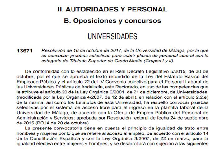 1 plaza Universidad Málaga