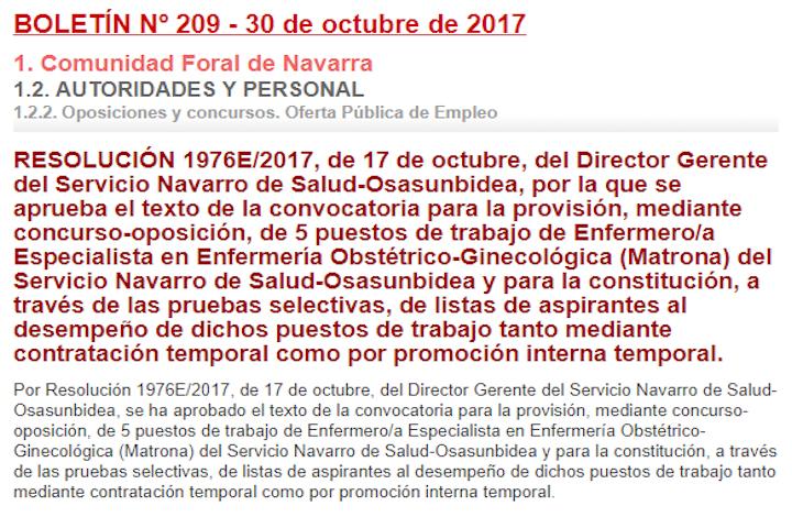 Matronas Comunidad Foral Navarra
