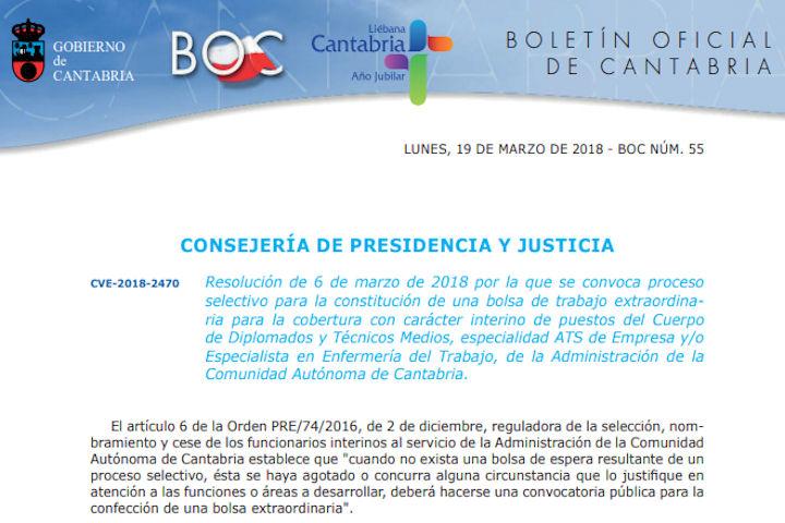 Bolsa Empleo Cantabria