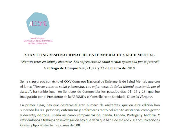 Clausura XXXV Congreso Salud Mental
