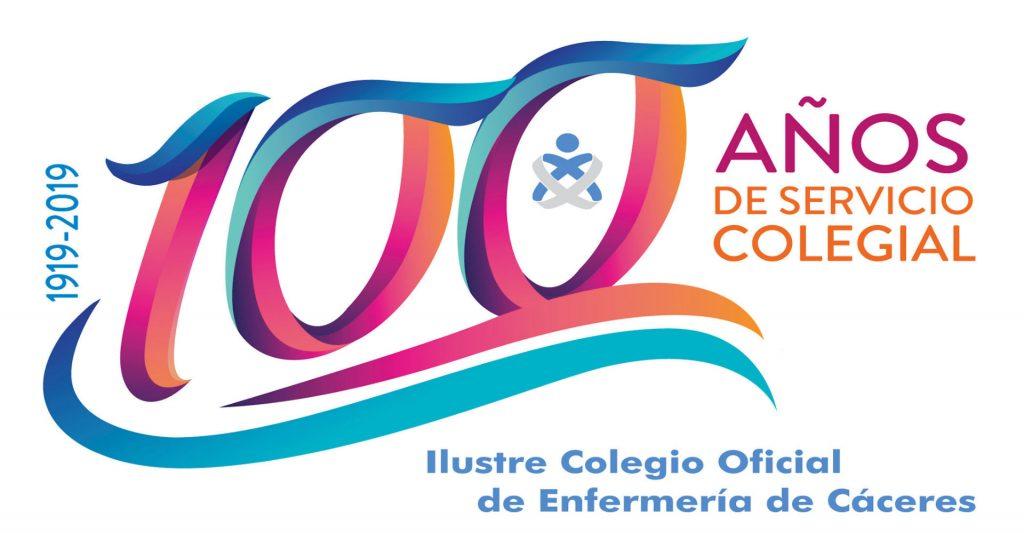 Logotipo Centenario Colegio Enfermería Cáceres