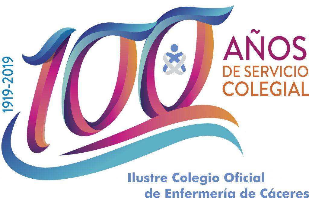 Logotipo centenario Colegio Enfermería de Cáceres