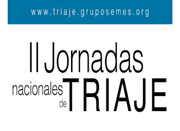II Jornadas Triaje
