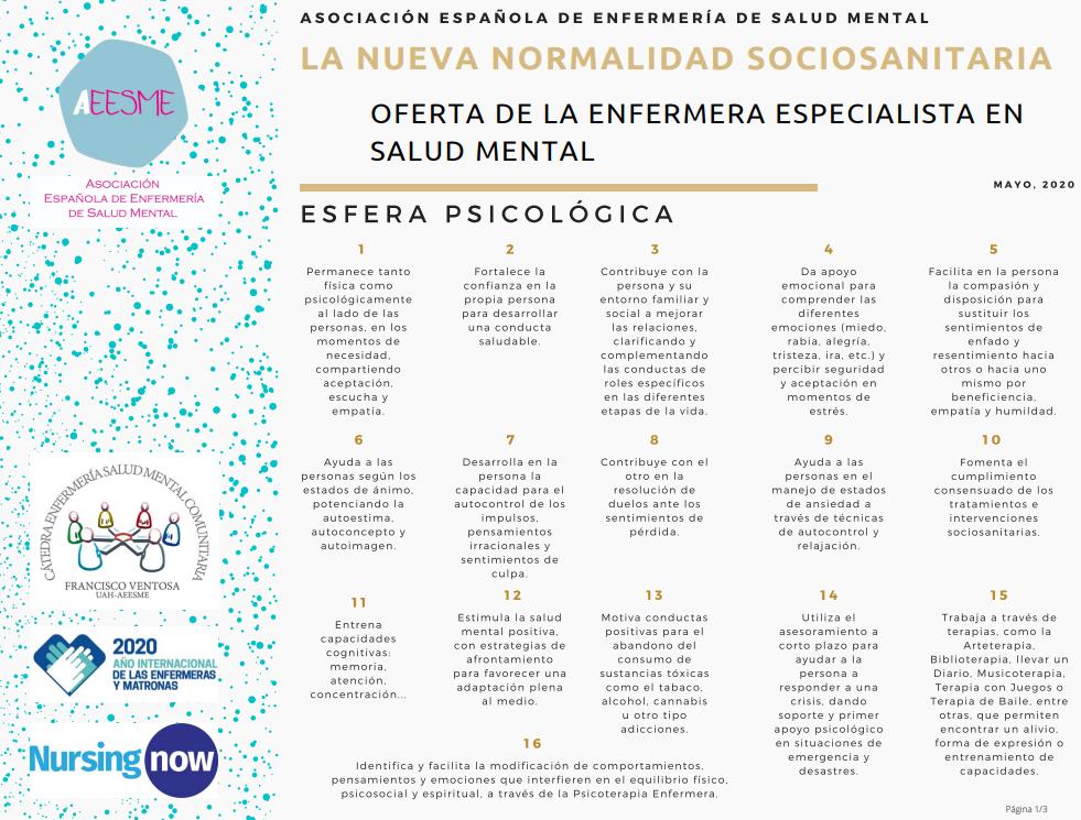 Nueva normalidad sociosanitaria - Salud Mental