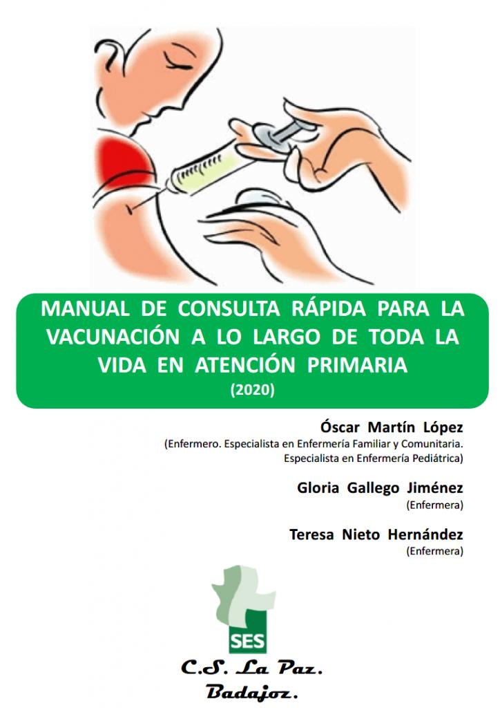 Manual de consulta rápida para la vacunación a lo largo de toda la vida en Atención Primaria