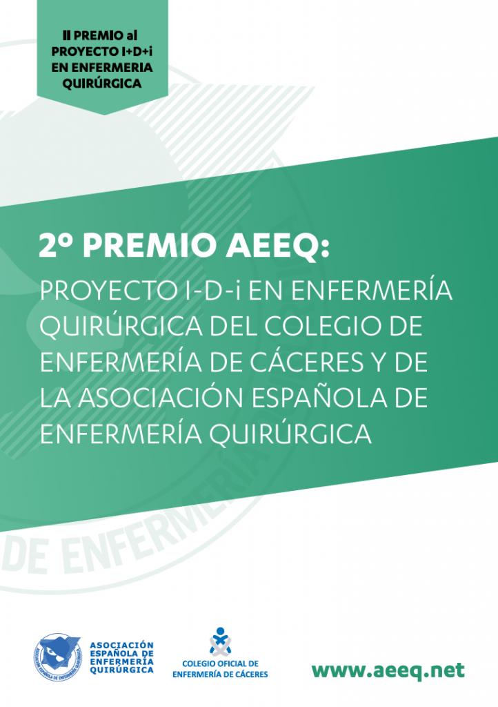 II Premio al proyecto I+D+i en Enfermería Quirúrgica