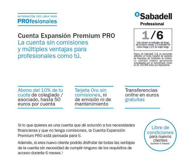 Cta Expansión Premium - Banco Sabadell